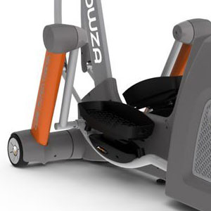 yowza fitness miami elliptical trainer pivoting pedals