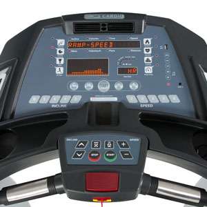 3g elite treadmill console