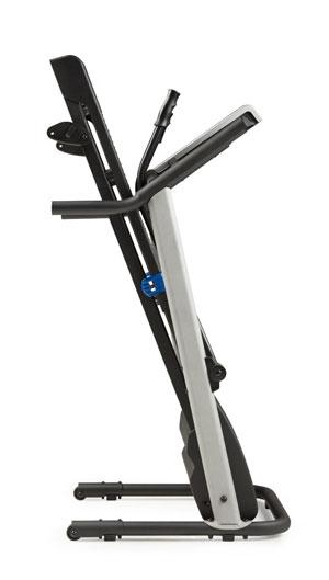 weslo treadmill - 5.2t - folded frame