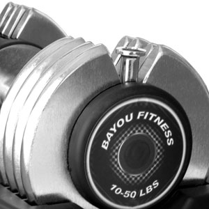 Bayou 50 lbs adjustable dumbbells