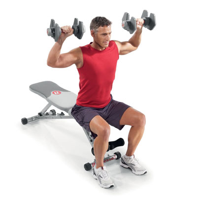 powerpak 445 adjustable dumbbells from Universal