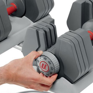 powerpak 445 dumbbells - adjustment system