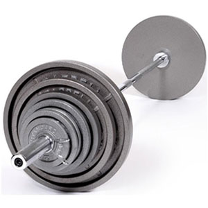 USA Sports by Troy Barbell 300 lb. Olympic Grey Weight Set