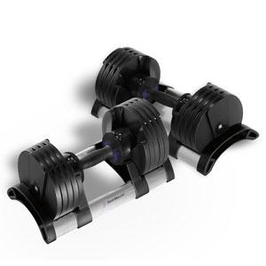StairMaster TwistLock Adjustable Dumbbells 100 lbs