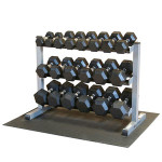 body solid GDR363 rack with SDRS550 dumbbells set