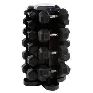 CAP Barbell Rubber HEX Dumbbell Set 550-Pound