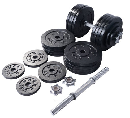 starring 200 lbs - 2 dumbbells set