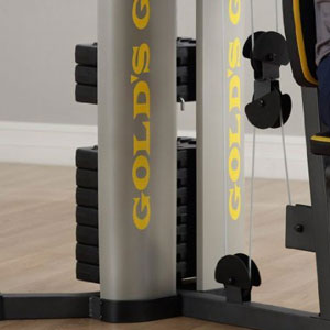 gold's gym xr 55 - vinyl weight stack