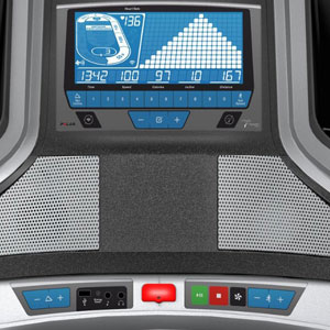 horizon fitness elite t7 - console