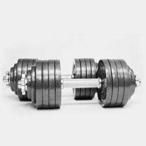 Omnie 200 lbs Adjustable Dumbbells