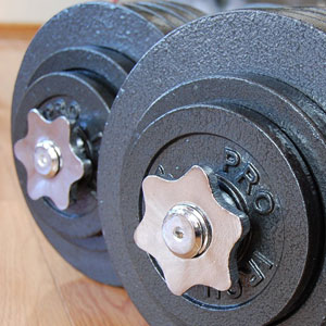 omnie adjustable dumbbells - collars