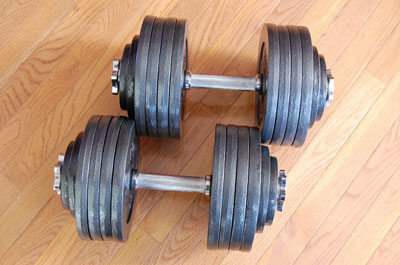 omnie adjustable dumbbells - 200 lbs - pair