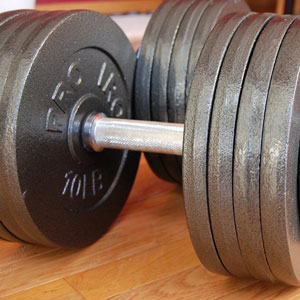 omnie dumbbells - 200 lbs - handle