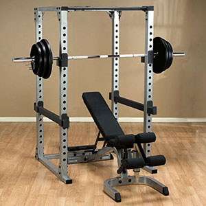 Body Solid Power Rack GPR378 with GFID71 Bench