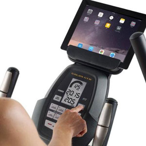 gold's gym 350i - console with tablet holder