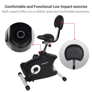 loctek u2 - under desk, magnetic resistance exercise bike