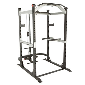 IRONMAN Triathlon X-Class Capacity Power Cage with Lat Pull Down & Low Row Cable Attachment