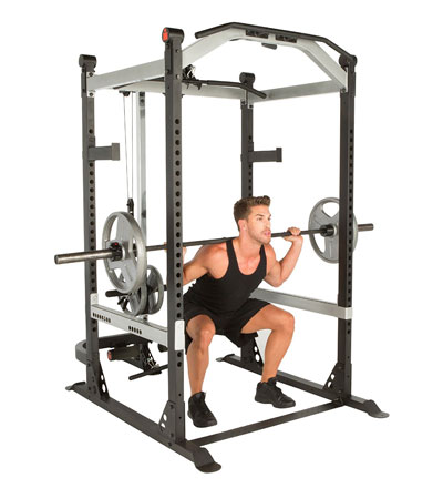 ironman triathlon x-class power cage - with lat pulldown station and low pulley