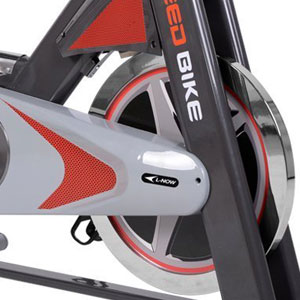 l now ld-577 exercise bike with belt drive and friction resistance