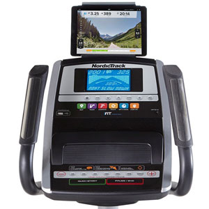 nordicktrack e 7.0 z elliptical trainer - control unit with tablet holder