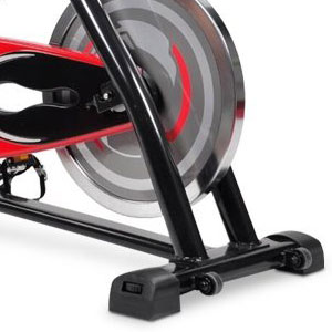crystal indoor cycling bike - base stabilizers and wheels