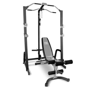 Marcy Pro Deluxe Cage System with Weight Lifting Bench PM-5108