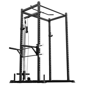 REP Fitness PR-1000 Power Rack with Lat Attachment