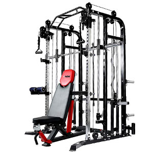 MiM USA 1001 Pro Smith and Functional Trainer Combo with Bench