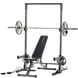 Fitness Reality Squat Rack 2809 with Bench