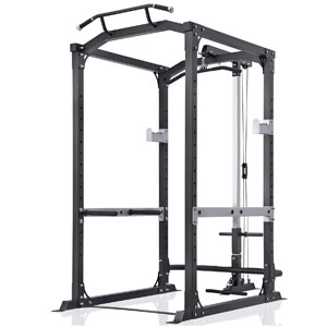 MaxKare Power Rack with Lat Pulldown Attachment